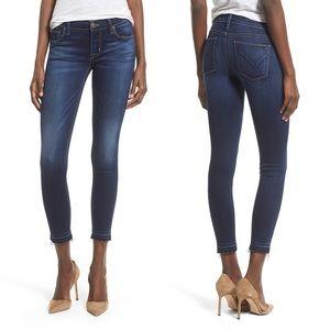 Hudson Krista Crop Raw Hem Skinny Jeans, 24